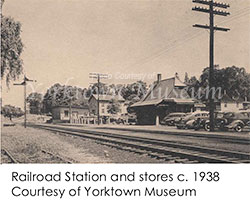 Railroad Station and Stores c. 1938