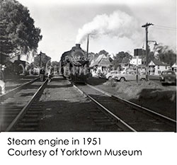 Train entering Yorktown Heights c. 1951