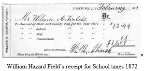 field tax receipt