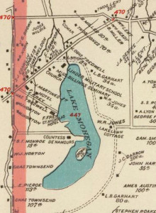 mohegan lake map 1893